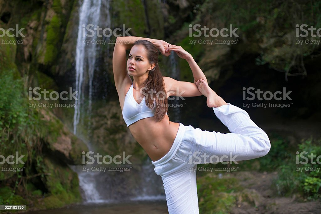 Nature, Yoga, Vibrancy stock photo