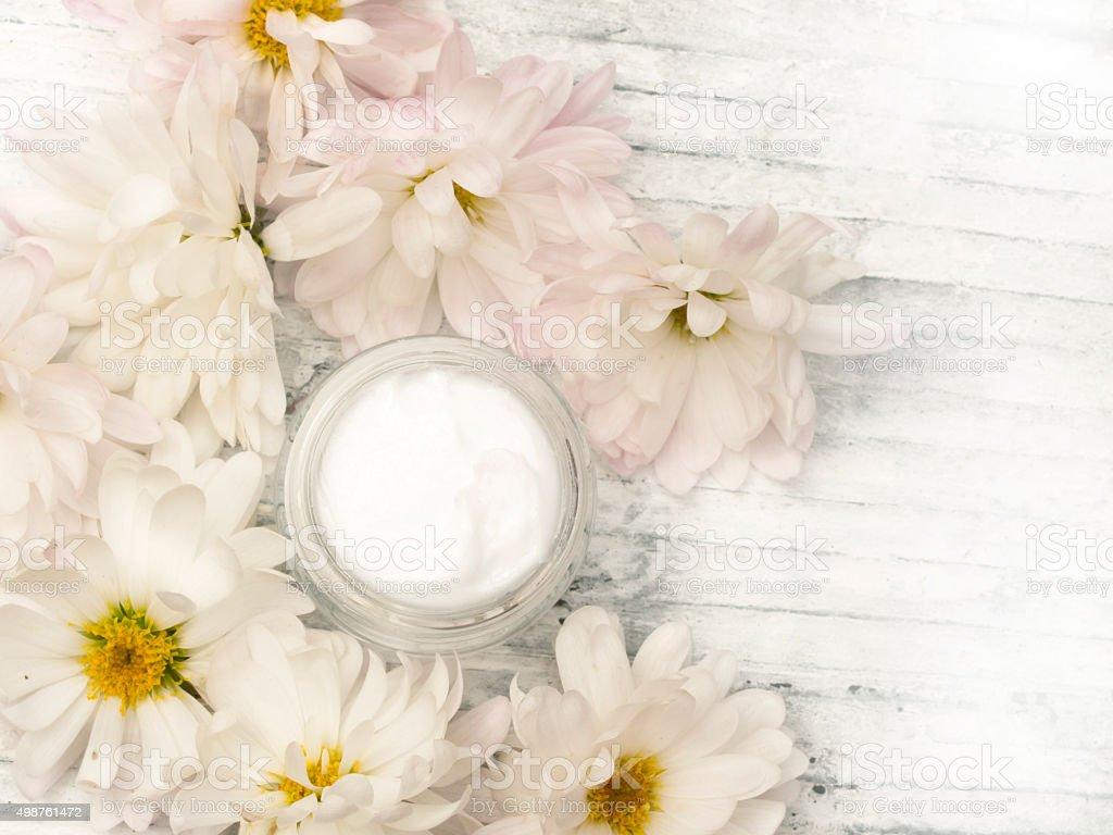 natureal facial or body cream stock photo
