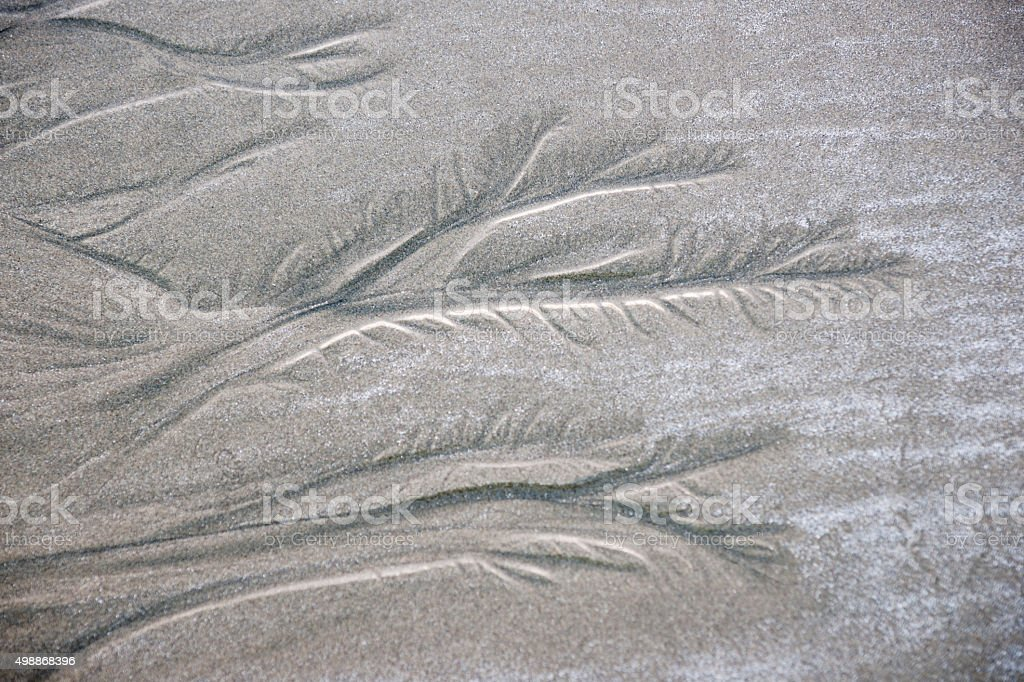 Nature's art in sand stock photo