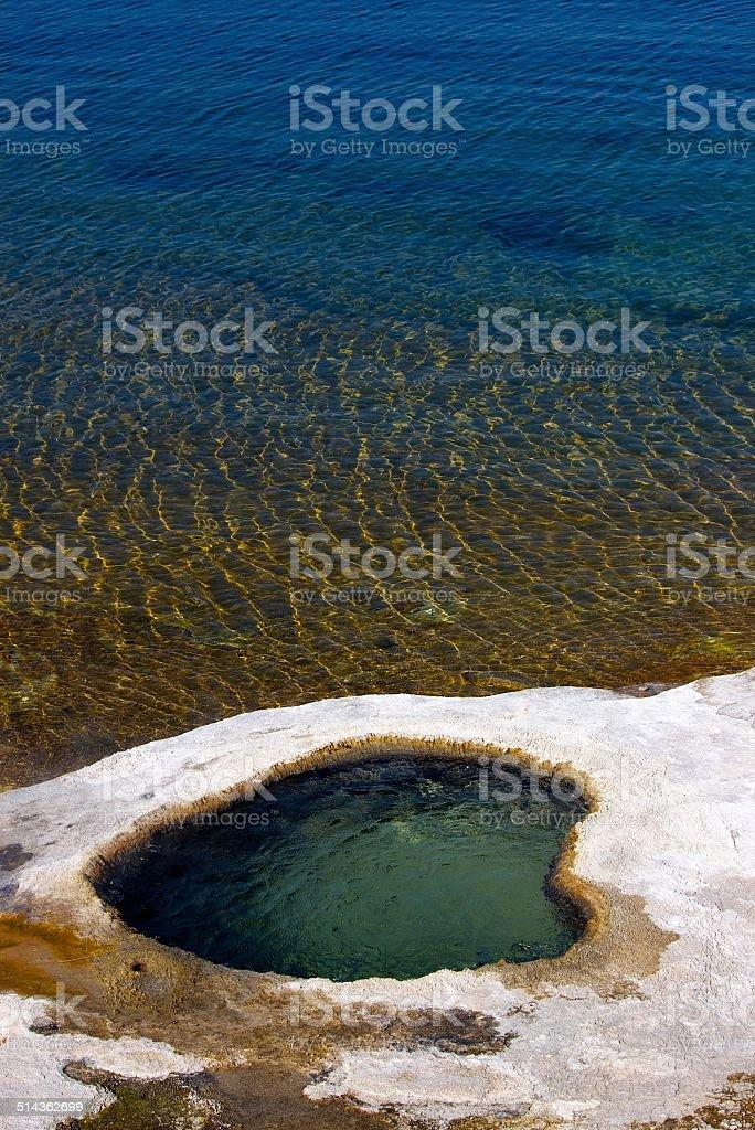 Nature's Hot Tub royalty-free stock photo