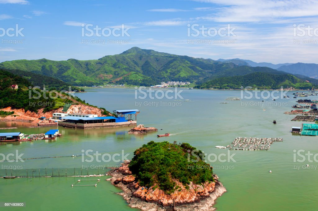 Nature's Treasure Islands in Xiapu, Fujian Province, China. stock photo