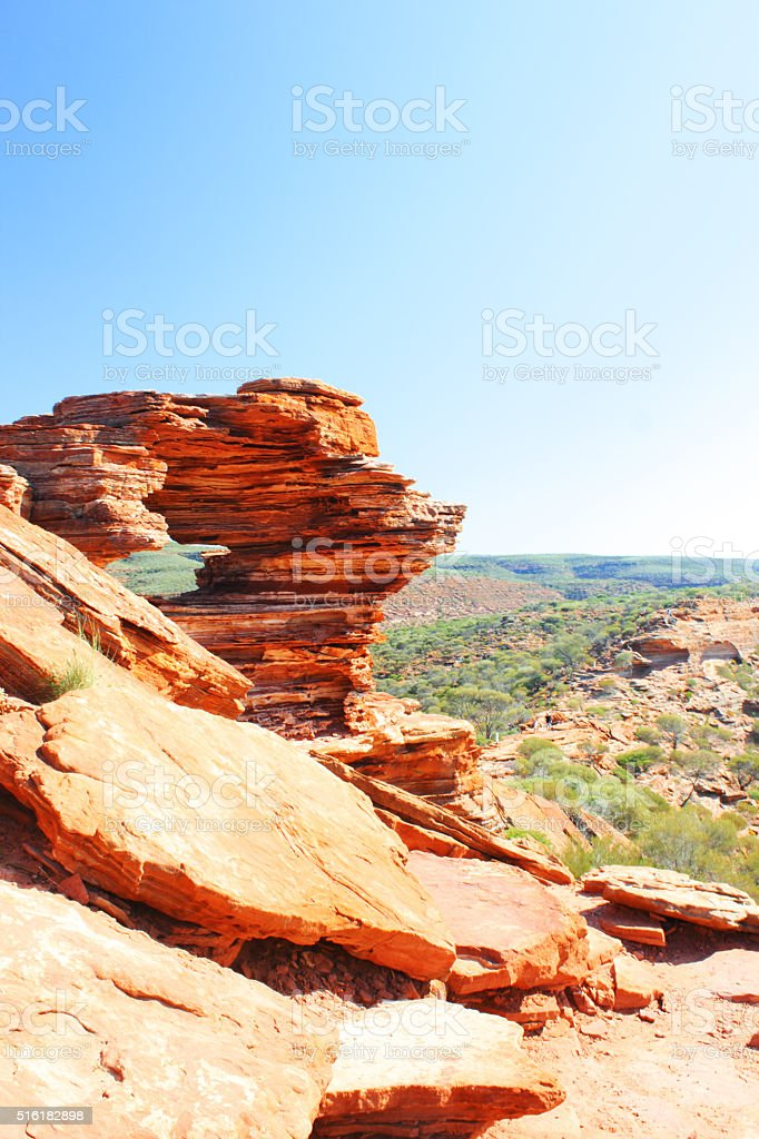 Nature's Window and Murchison River, Kalbarri National Park stock photo