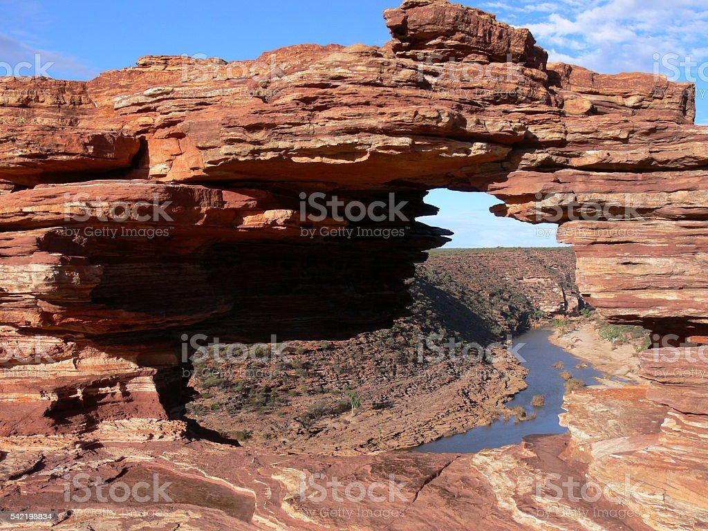 Nature's Window in Australia stock photo