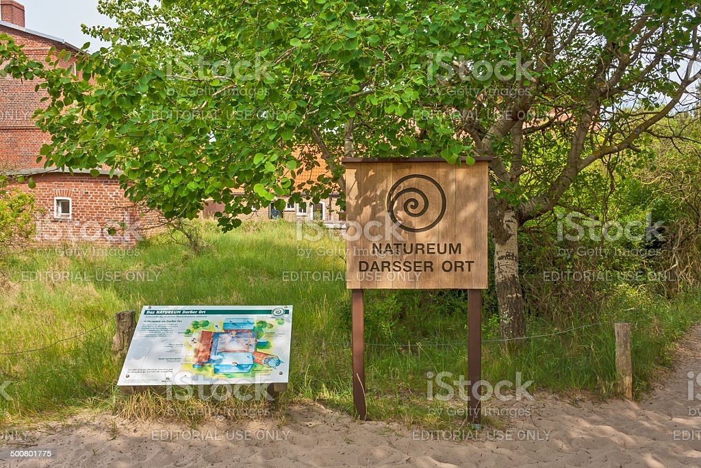 Natureum Darsser Ort stock photo