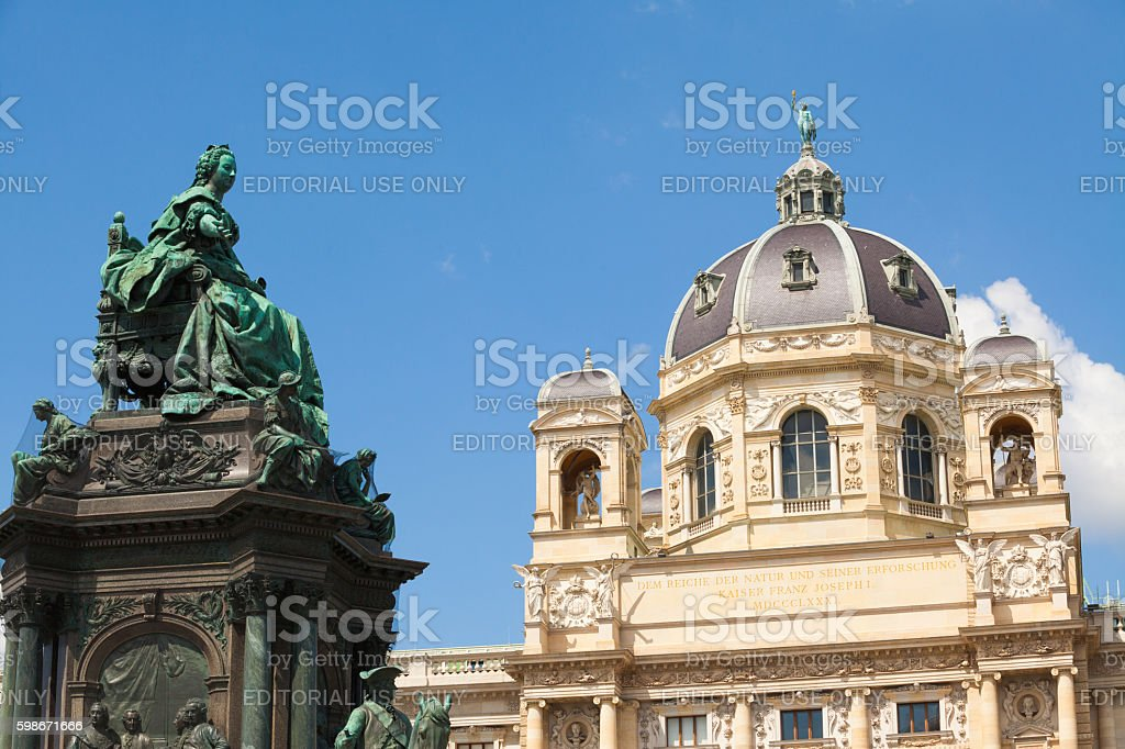 Naturhistorisches Museum in Vienna stock photo