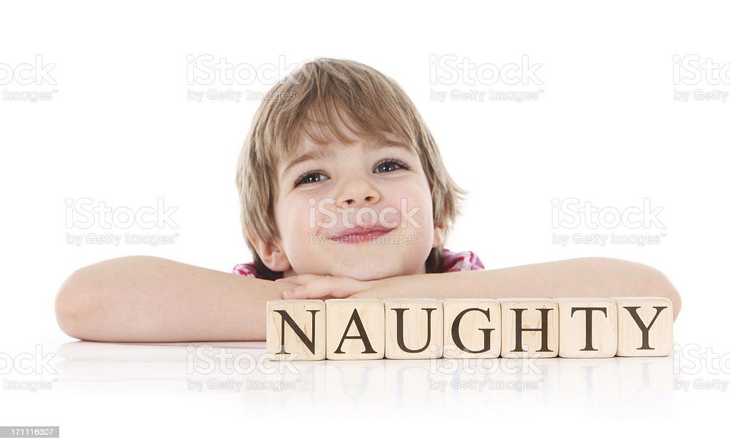 Naughtly Little GIrl stock photo
