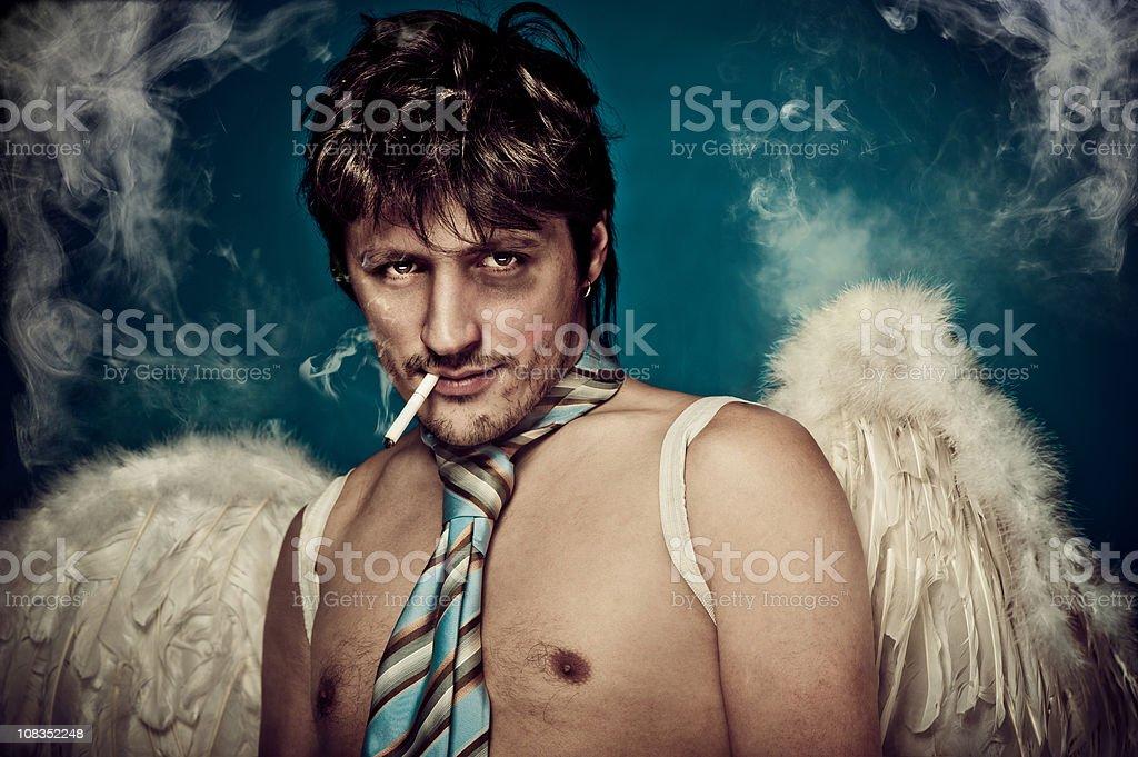 Naughty angel royalty-free stock photo