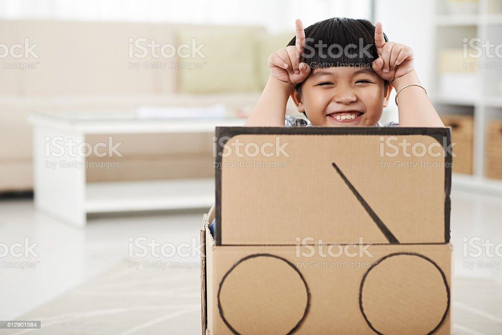 Naughty boy stock photo