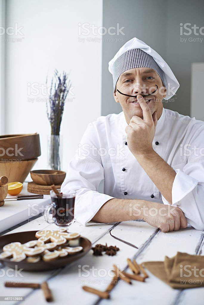 Naughty chef royalty-free stock photo