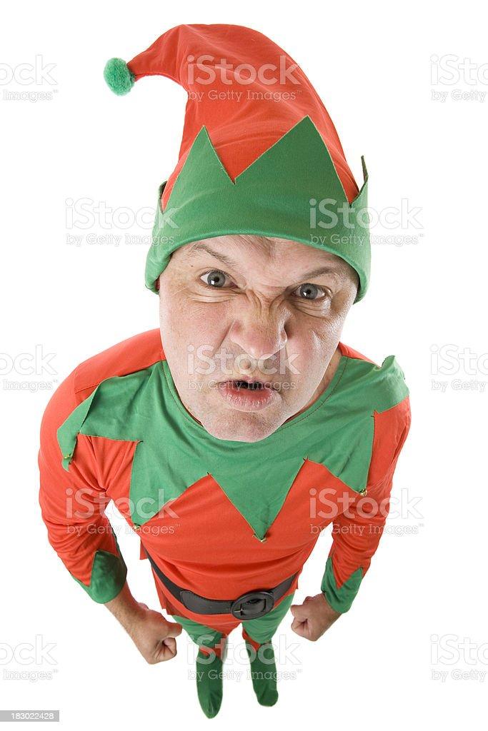 Naughty Elf stock photo