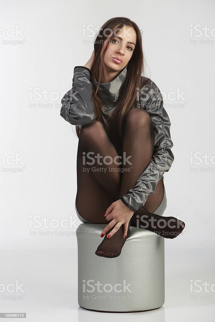 Naughty Fashion Girl royalty-free stock photo