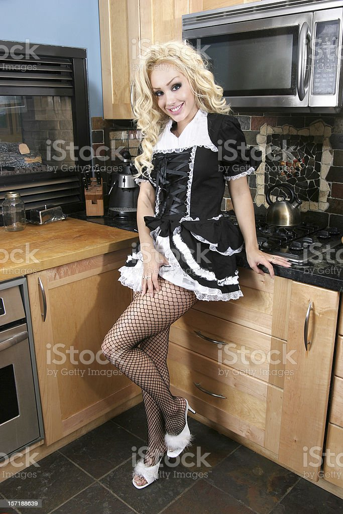 Naughty French Maid royalty-free stock photo