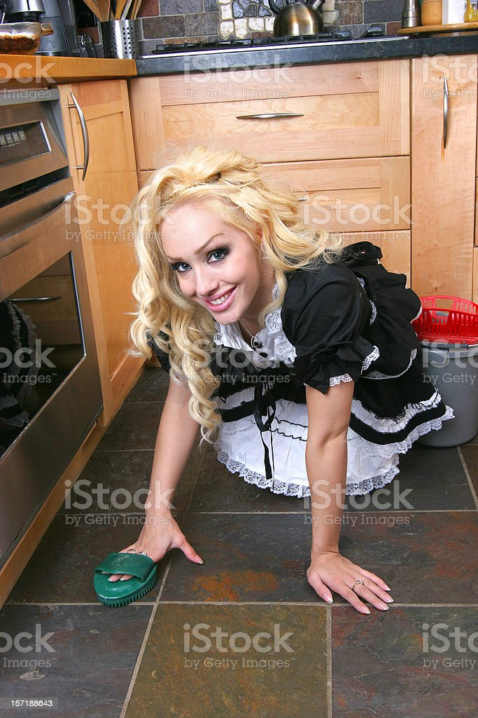 Naughty French Maid royalty-free stock photo