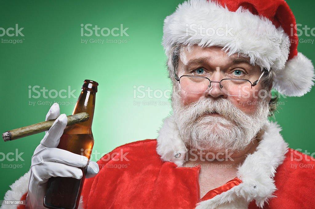 Naughty Santa stock photo