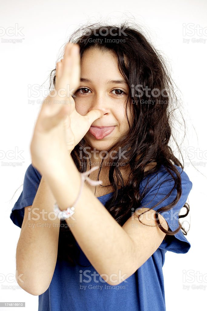 naughty young girl royalty-free stock photo