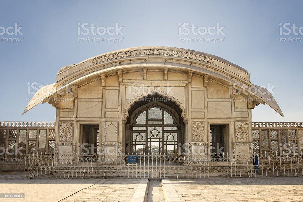 Naulakha Pavilion in Lahore Fort royalty-free stock photo