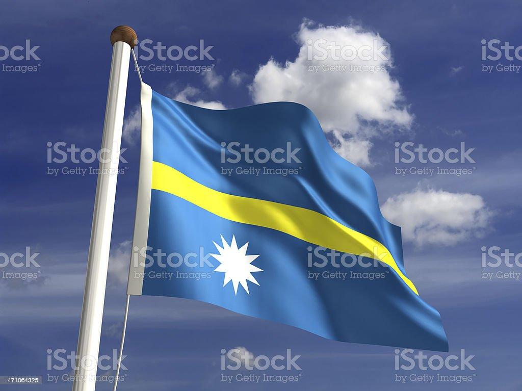 Nauru flag (with clipping path) stock photo