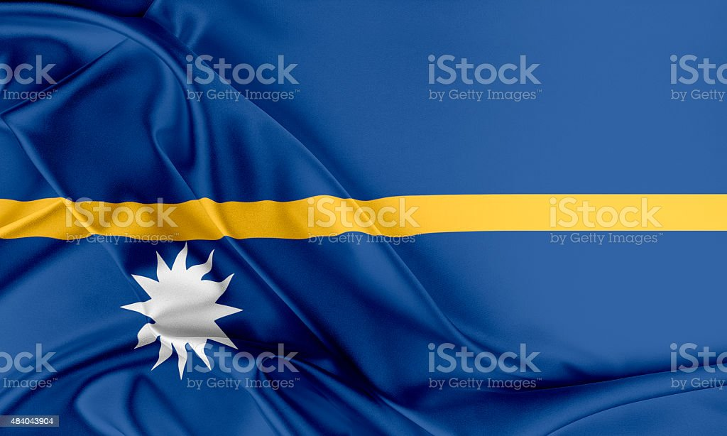 Nauru Flag stock photo