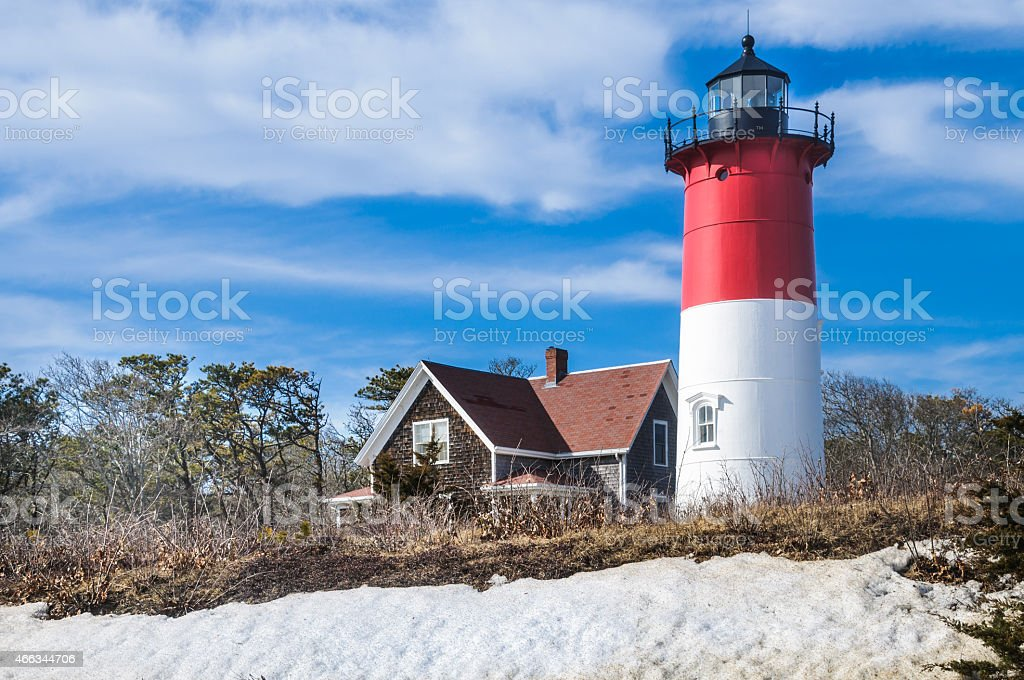 Nauset Beach Lighthouse stock photo