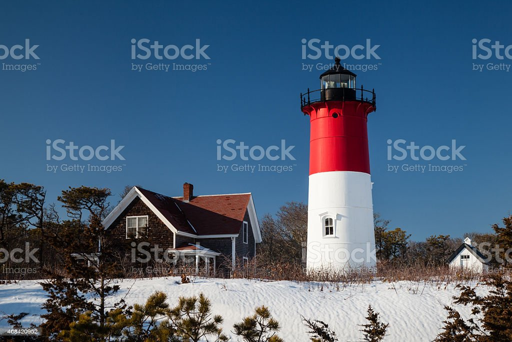 Nauset Light stock photo