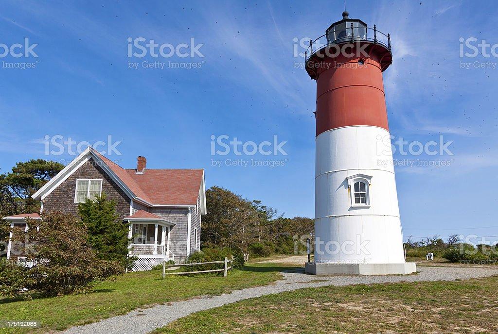 Nauset Lighthouse, Cape Cod, Ma royalty-free stock photo
