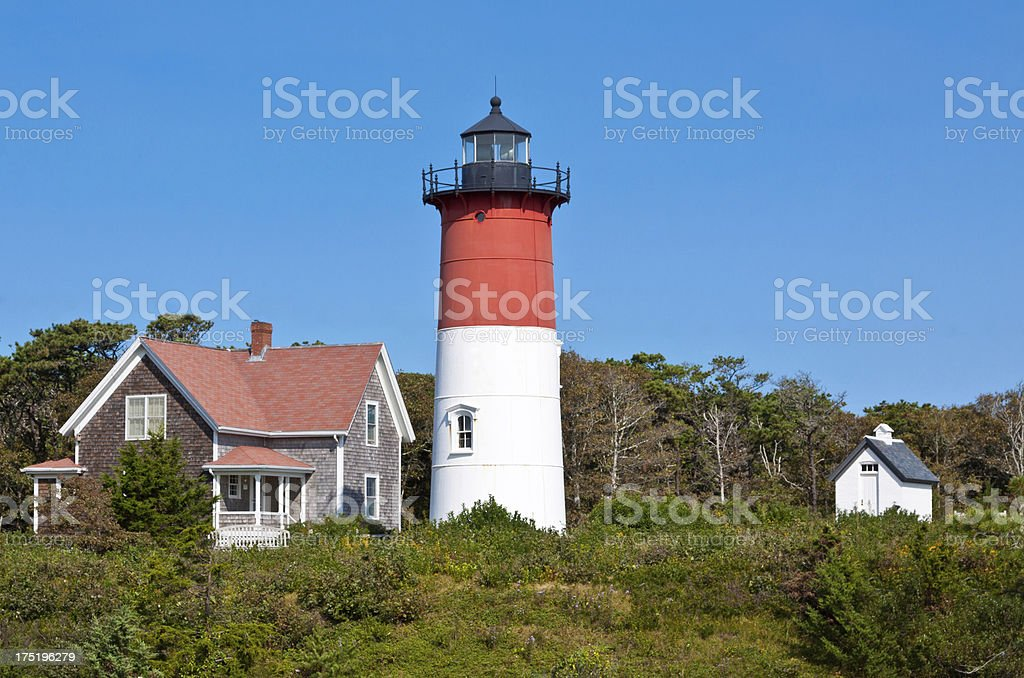 Nauset Lighthouse, Cape Cod, Ma royalty-free stock photo
