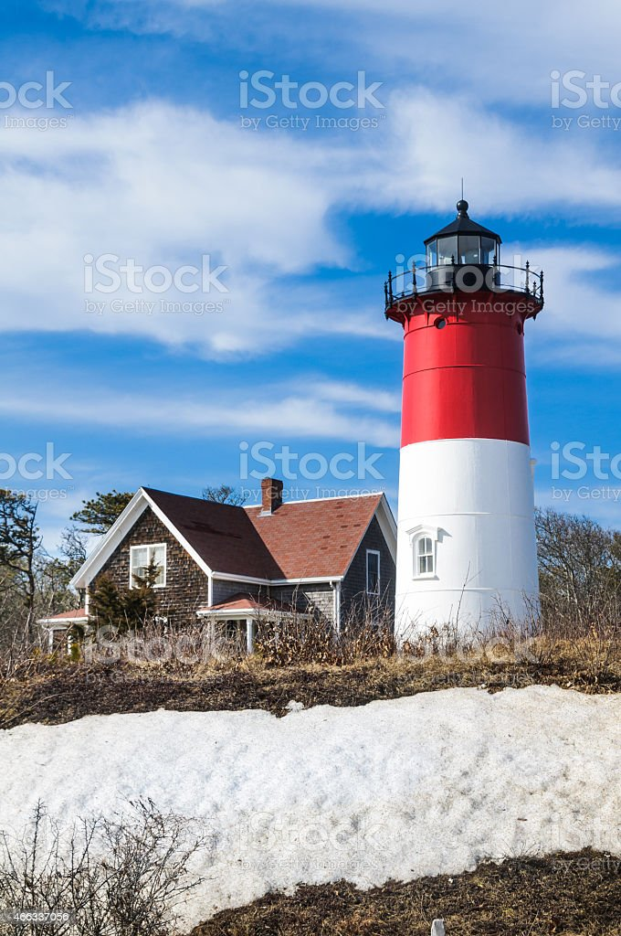 Nauset Lighthouse stock photo