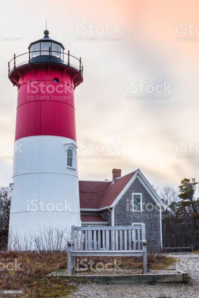 Nauset Lighthouse stock photo