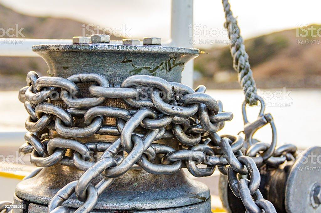 Nautical Anchor Chain stock photo