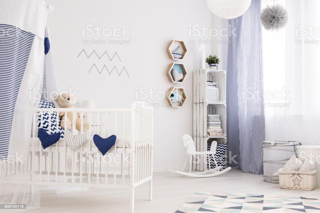 Nautical baby room stock photo