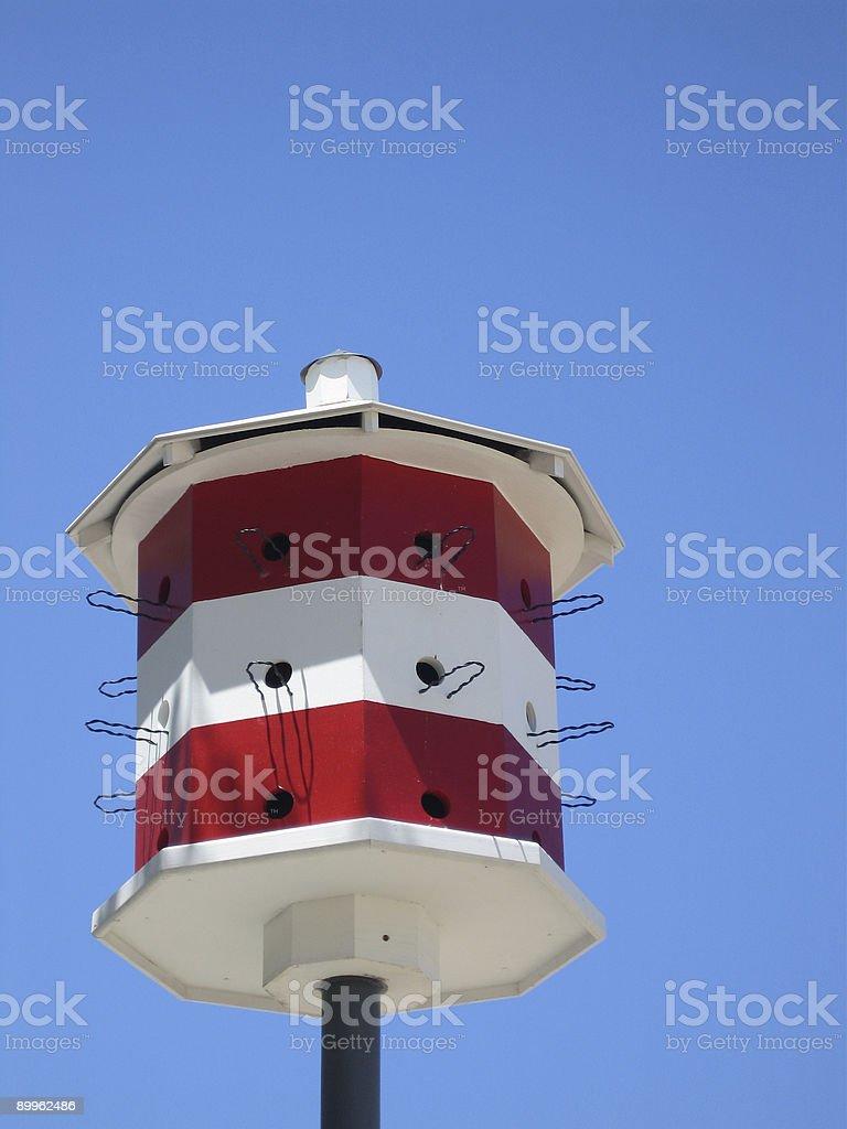 Nautical Beach Birdhouse royalty-free stock photo
