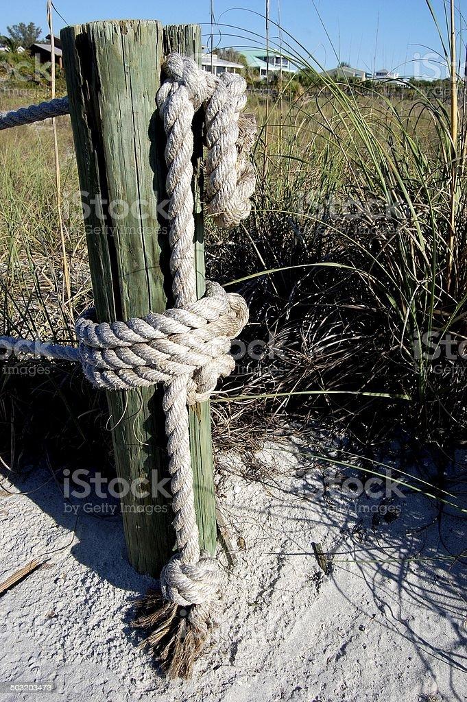 Nautical Boardwalk Knots stock photo
