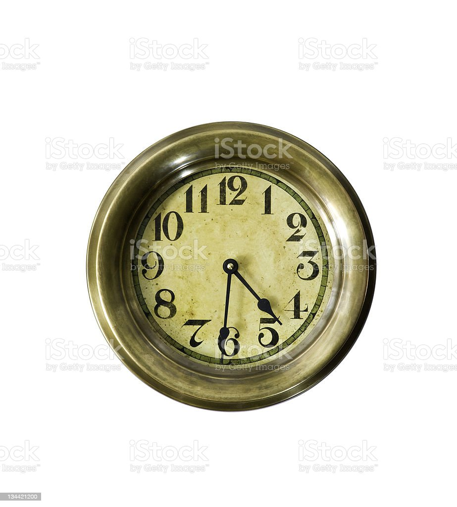 Nautical Clock on Wall royalty-free stock photo