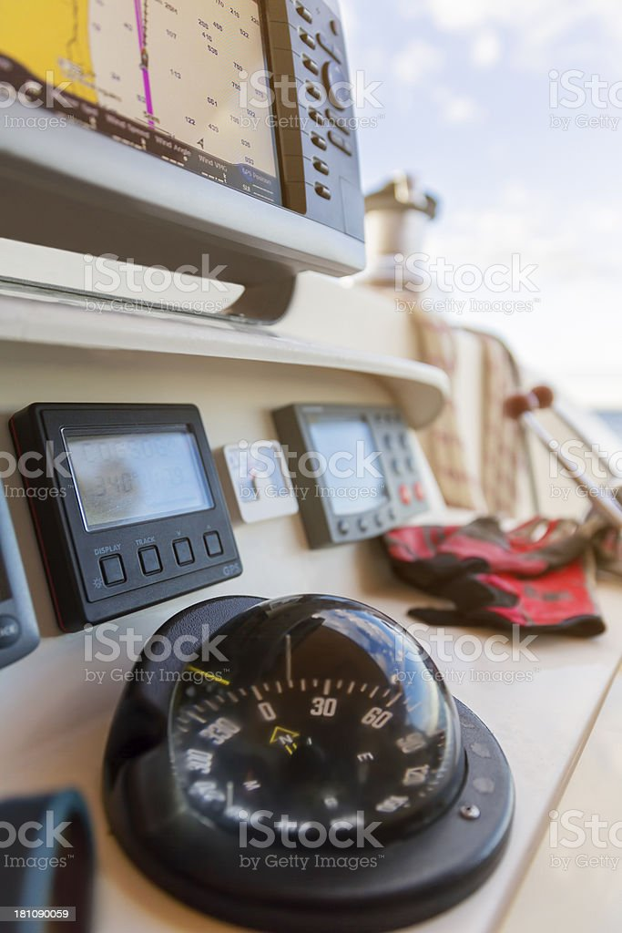 Nautical Compass royalty-free stock photo