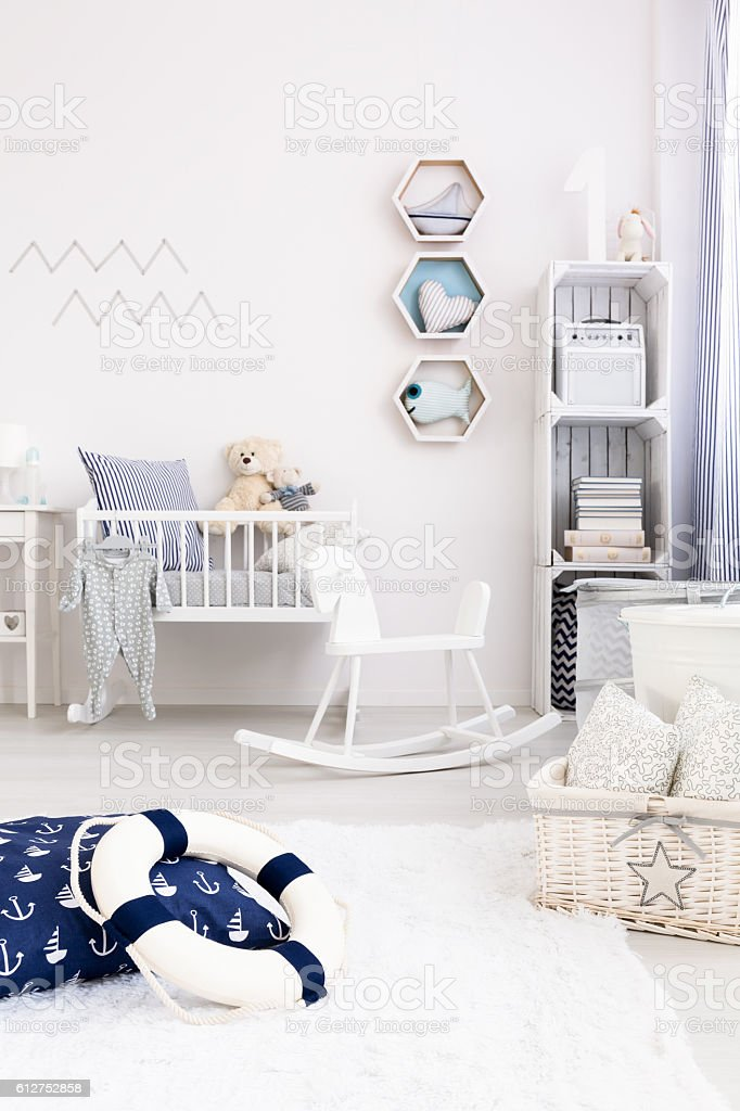 Nautical decoration ideas stock photo