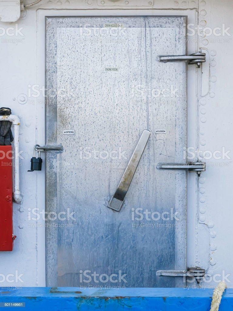 Nautical door stock photo