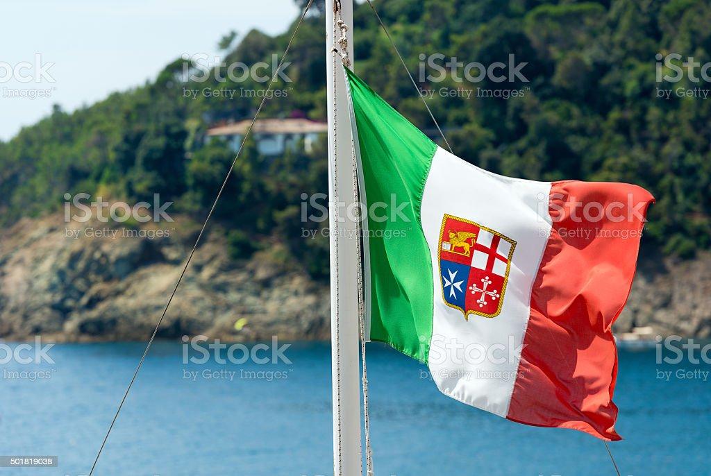 Nautical Flag of Italy stock photo