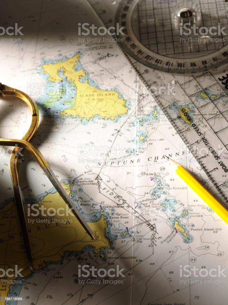 Nautical Navigation royalty-free stock photo