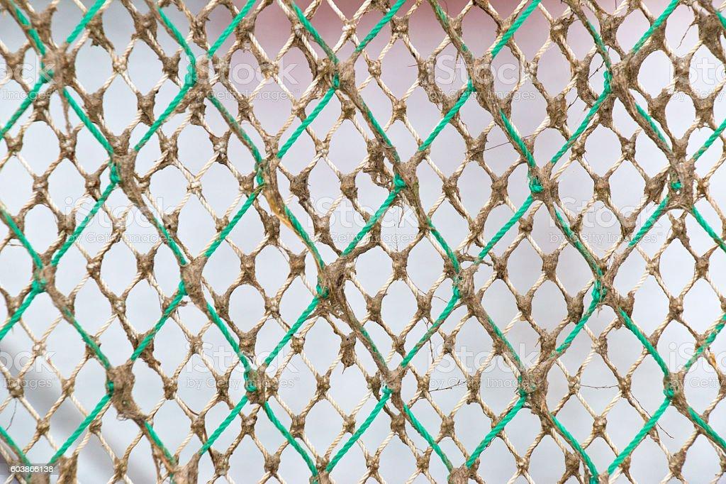 Nautical Rope Fishing Net stock photo