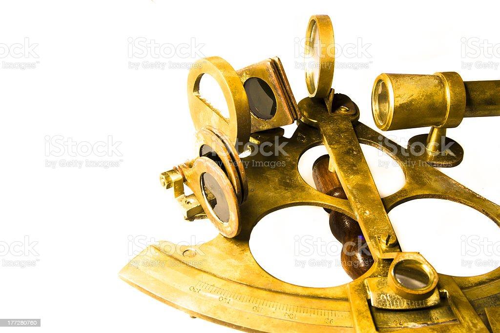 Nautical sextant royalty-free stock photo