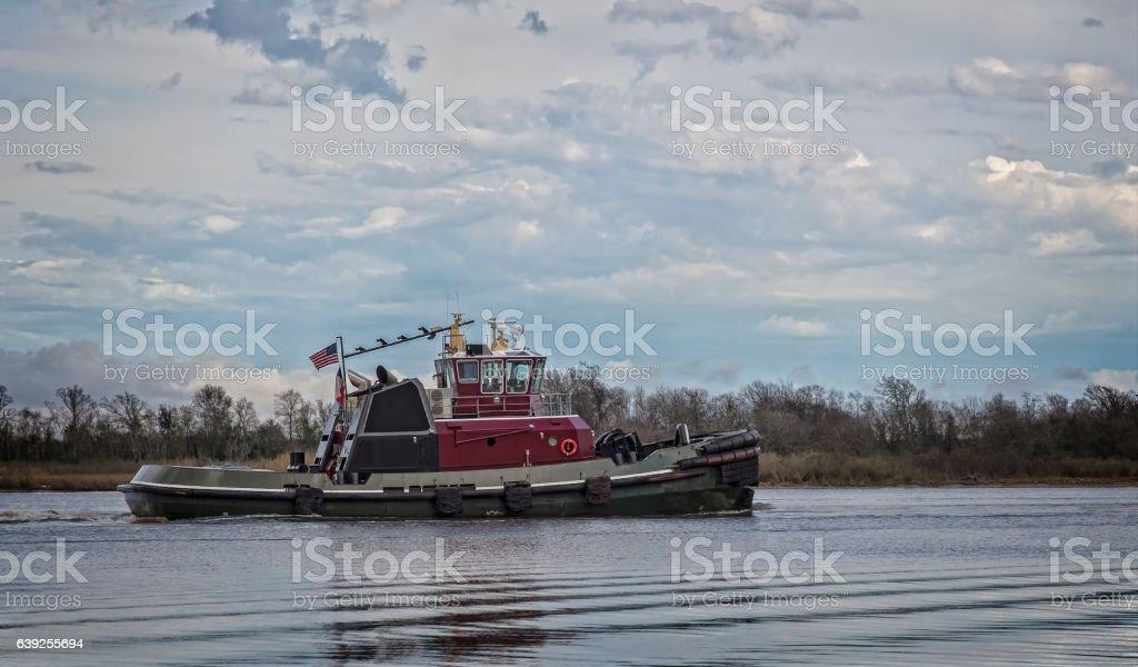 Nautical Tug and Pull Boat stock photo