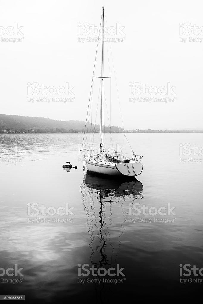 Nautical Vessel. Black and White stock photo