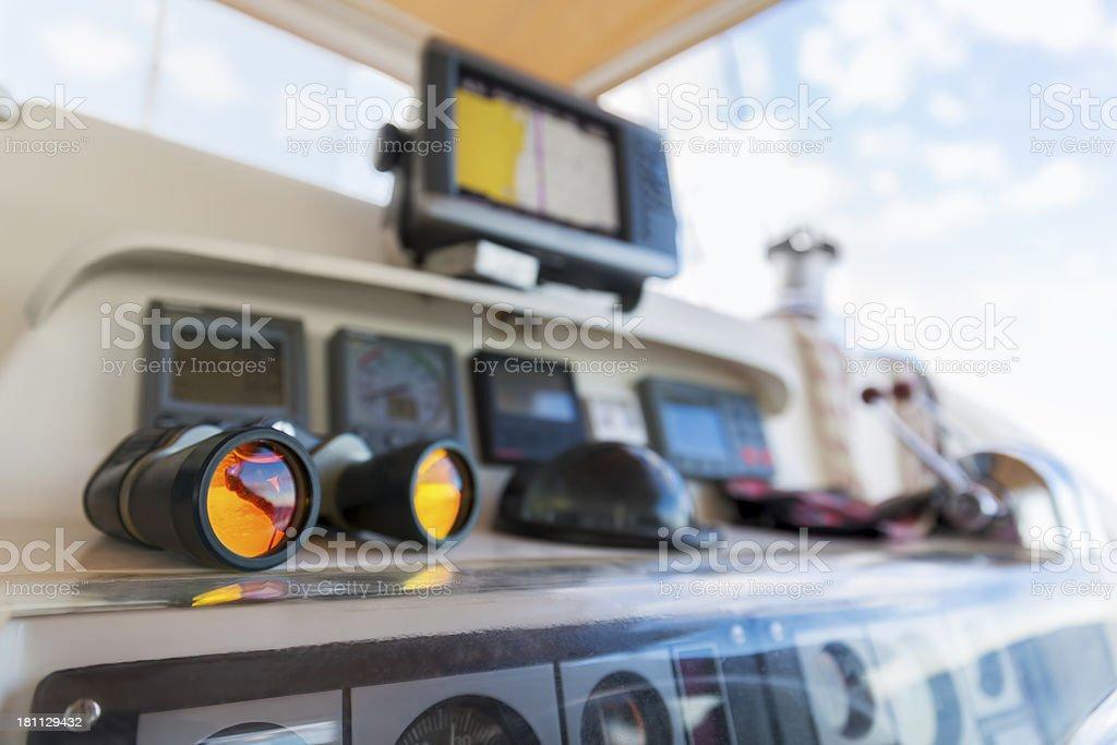 Nautical yacht cockpit royalty-free stock photo