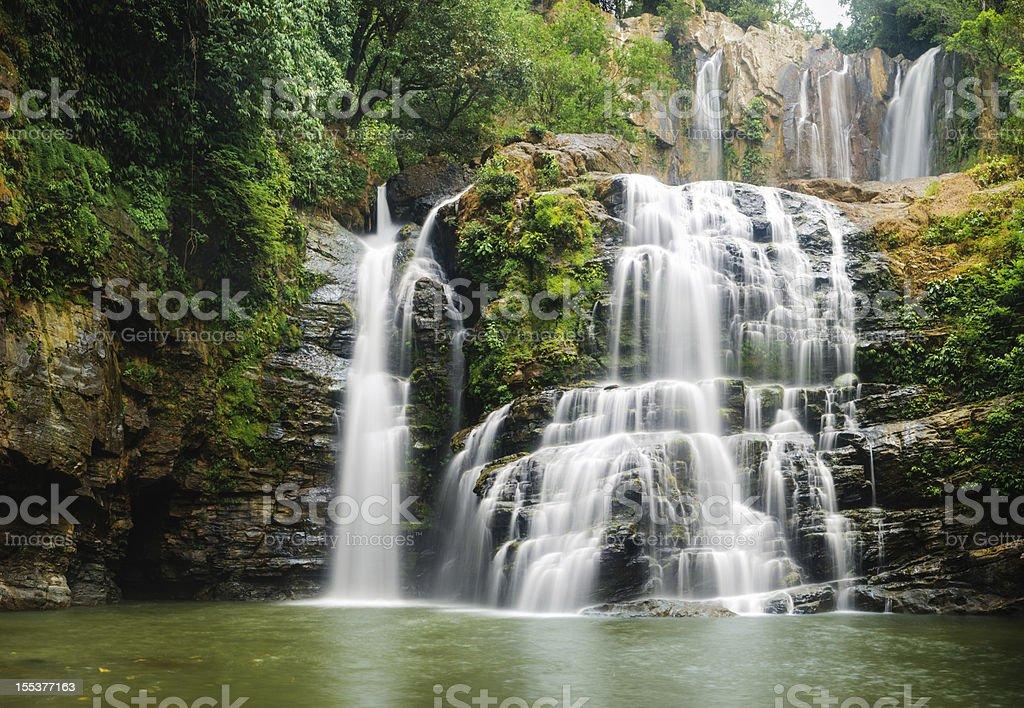 Nauyuca Waterfall in Costa Rica royalty-free stock photo