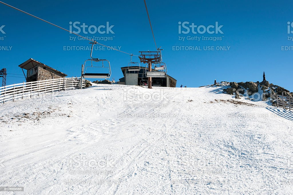 Navacerrada Ski Resort stock photo
