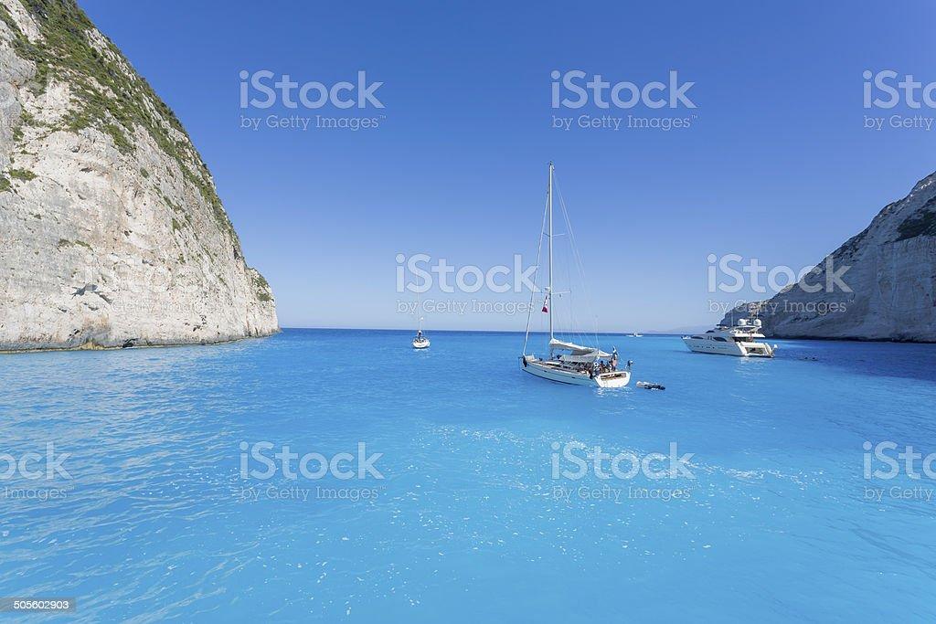 Navagio bay stock photo