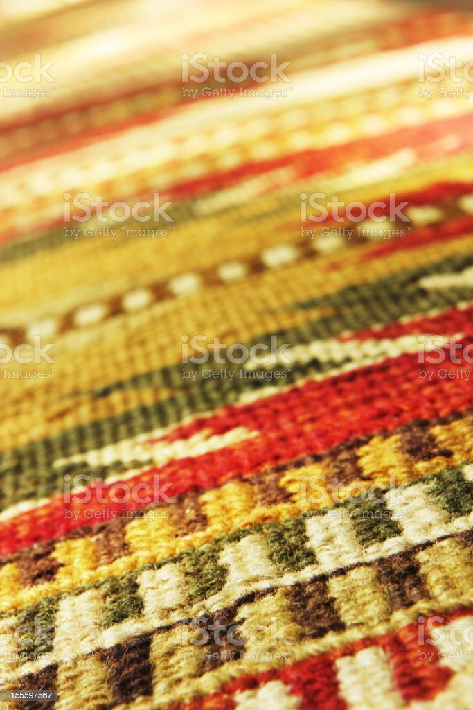 Navajo Blanket Rug Fabric Design royalty-free stock photo