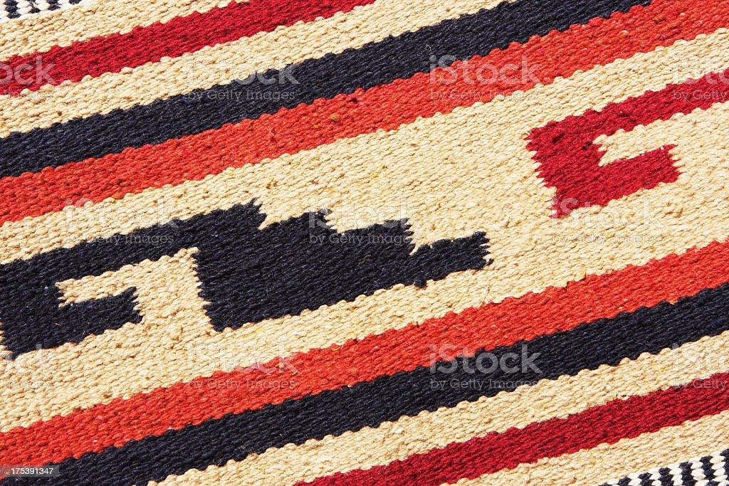 Navajo Blanket Rug Fabric Design stock photo