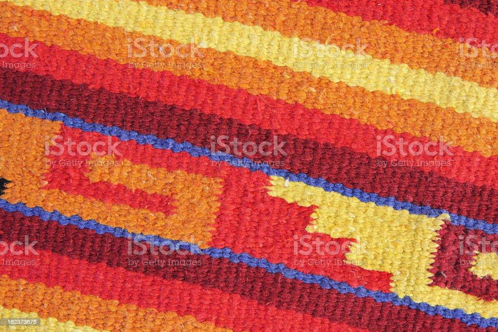 Navajo Blanket Rug Fabric Design royalty-free stock photo
