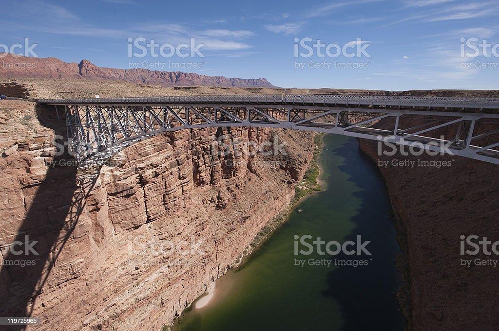 Navajo Bridge, over Colorado River, Arizona stock photo